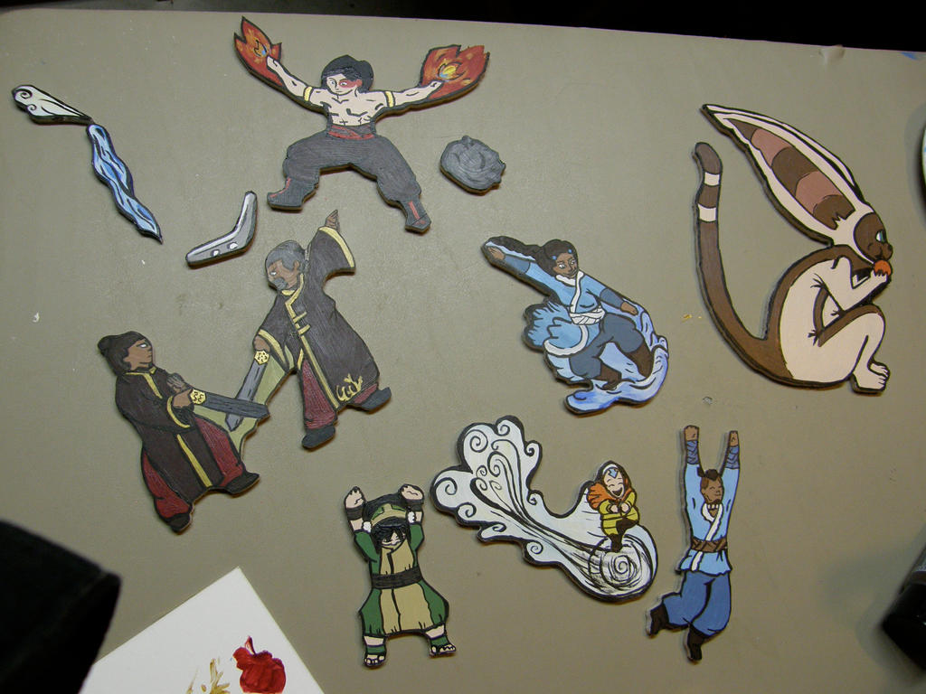 ATLA:All the Characters for the Name Plate by NeedsMoreKetchup