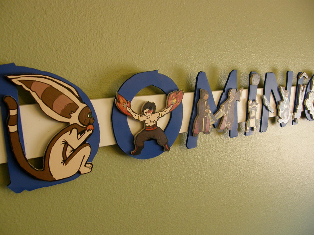 Baby Name Plate ATLA characters by NeedsMoreKetchup