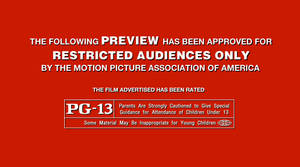 MPAA PG-13 Red Band screen