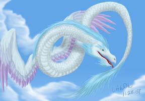 White Amphiptere by Khezix