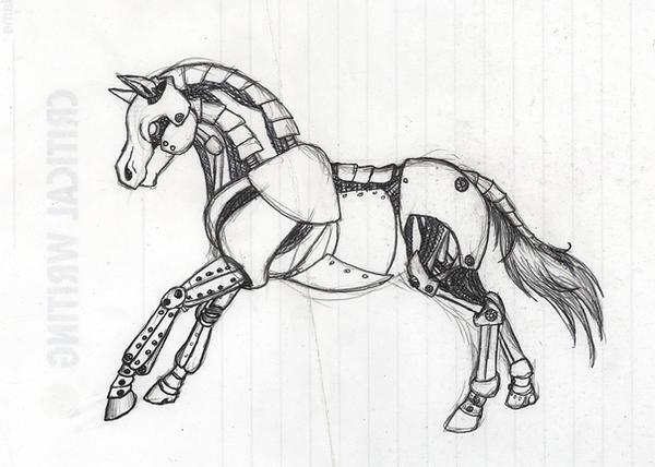 Deviantarts Robot Horse: Robot Horse Doodle By Khezix On DeviantArt
