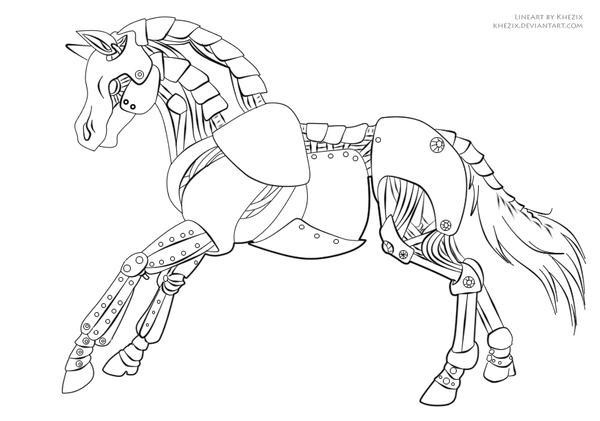 Deviantarts Robot Horse: Lines By Khezix On DeviantArt