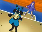 AT:  pokemon battle by Fedextreme