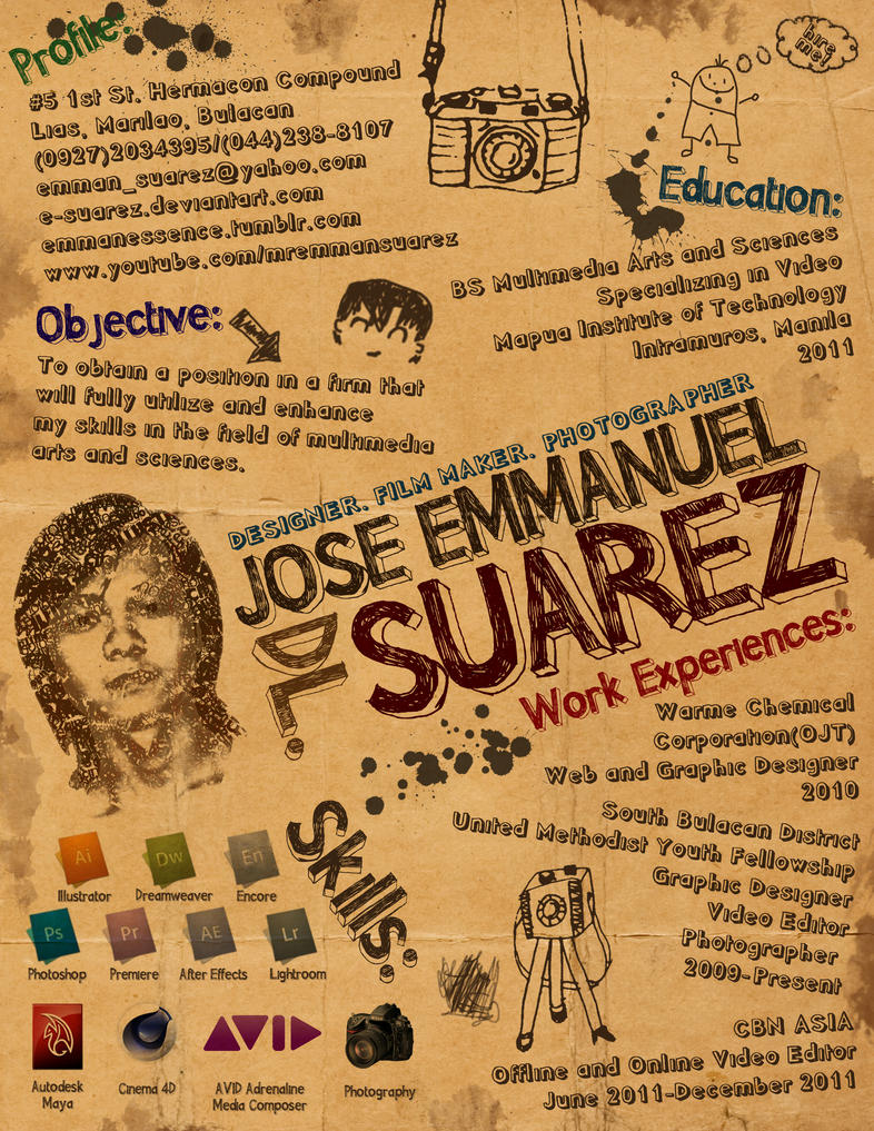 emmans creative resume by esuarez on deviantart e resume