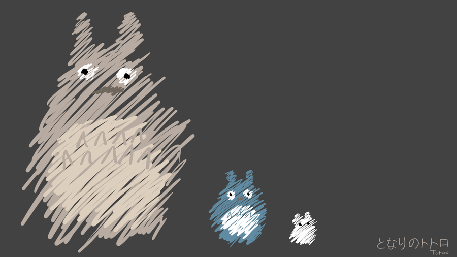 Totoro Wallpaper by Sammi1502 on DeviantArt