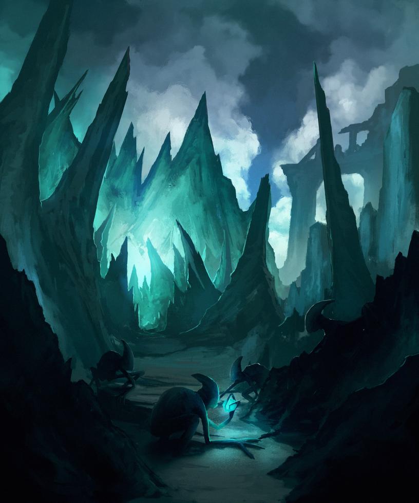Obsidian lands by kerimakyuz