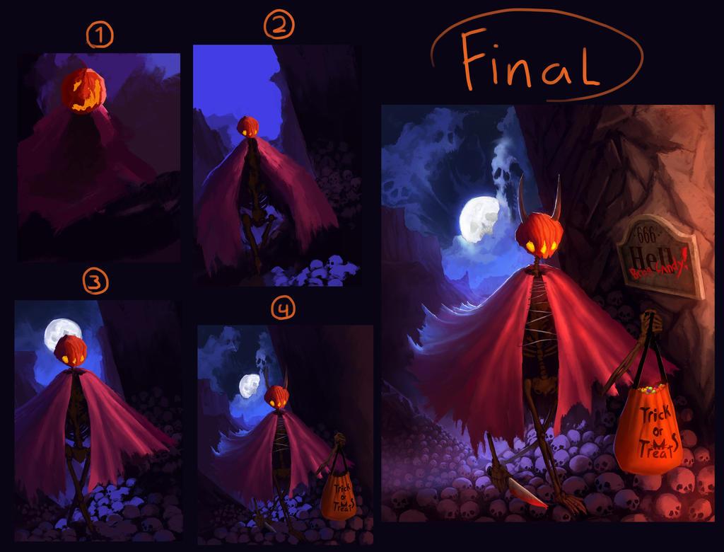 End of Halloween process by kerimakyuz