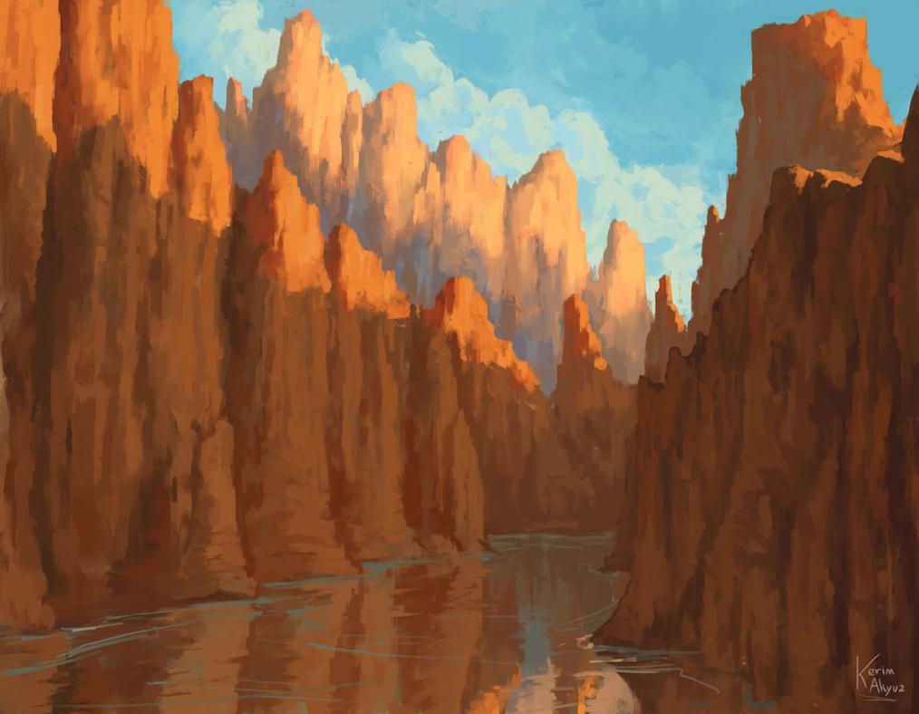 Canyon passage by kerimakyuz