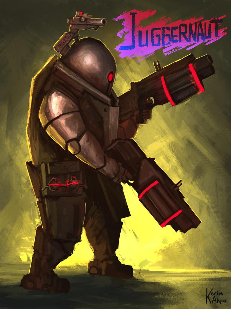 Risk of Rain Fan Art: Juggernaut by kerimakyuz