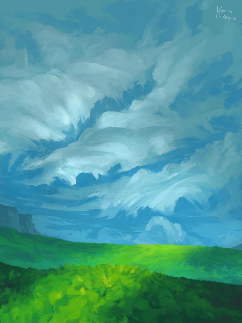 Paper Clouds by kerimakyuz