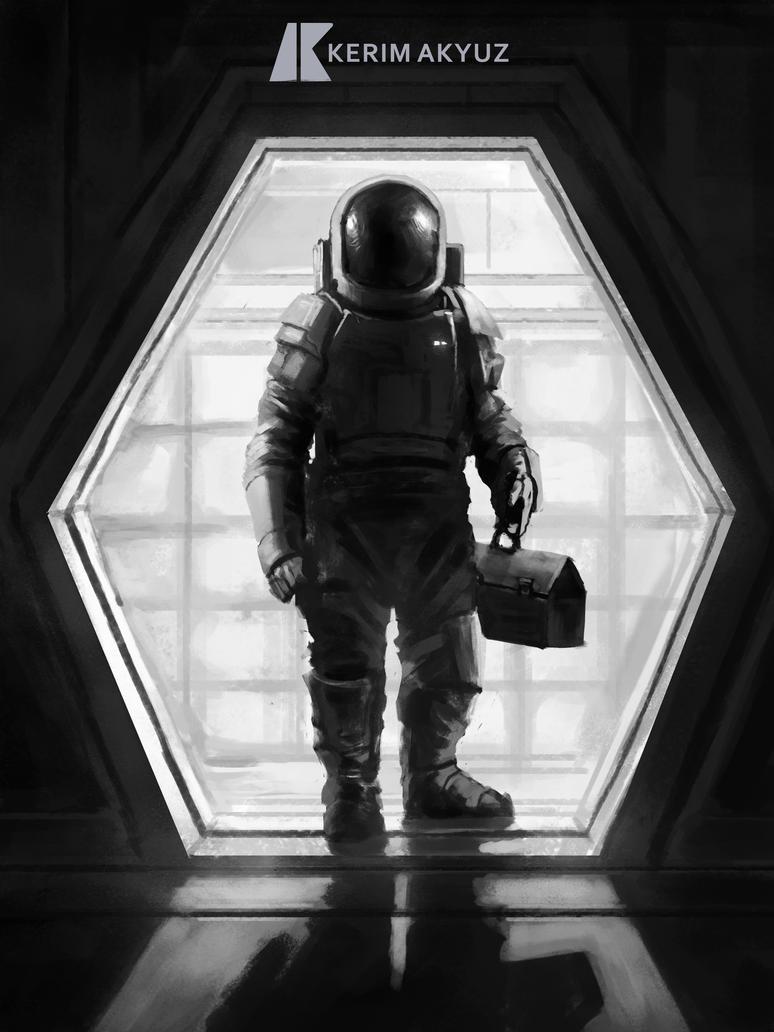 Daily Imagination #172 - Astronaut's Life 2 by kerimakyuz