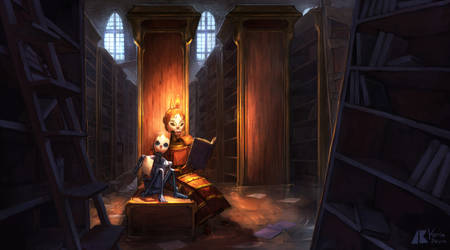 Story in the library by kerimakyuz