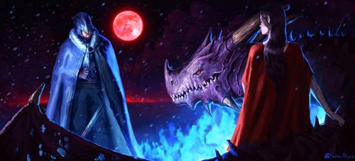 A Blood Moon Night by kerimakyuz