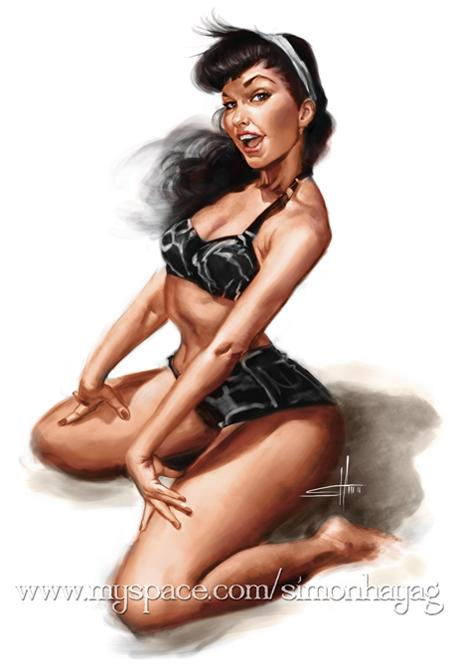 Bettie Page by simonhayag