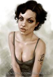 Angelina Jolie by simonhayag