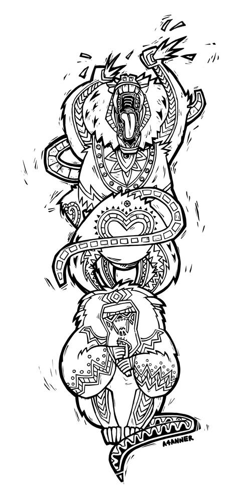 Three Wise Monkeys Drawings Three Wise Monkeys by A4anner