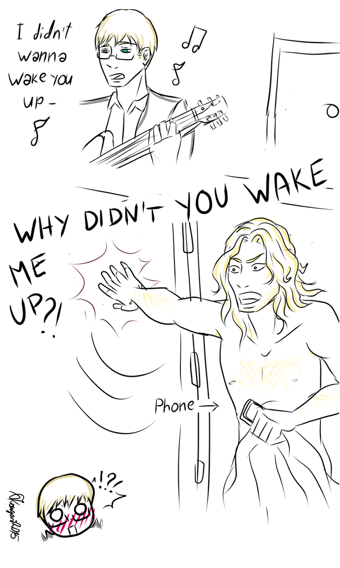 Why didn't you wake him up by JoyousInsomnia