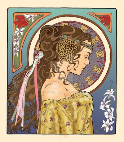Art Nouveau Padme by hriviel