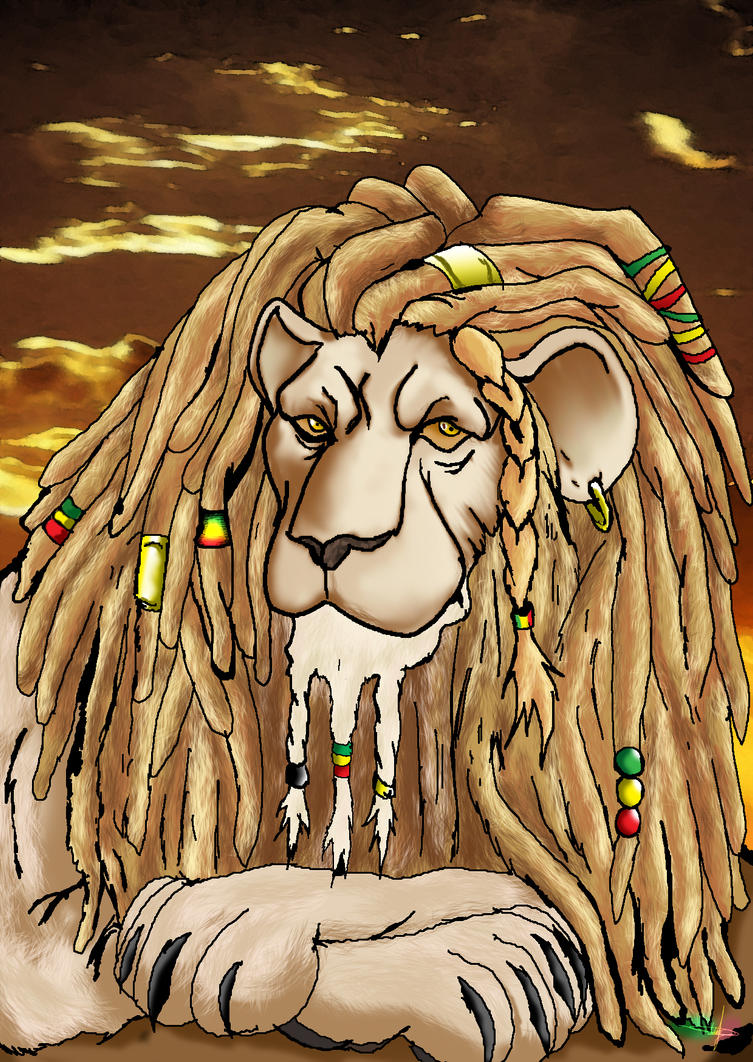 how to draw a rasta lion
