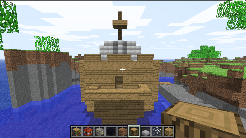 minecraft how to build a pirates ship
