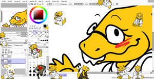 Itty Bitty Alphys shimeji//DOWNLOAD