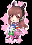 [ Dva - Overwatch ] Chibi by Cure-Rainbow