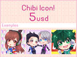 Chibi icon commission! [closed] by Cure-Rainbow