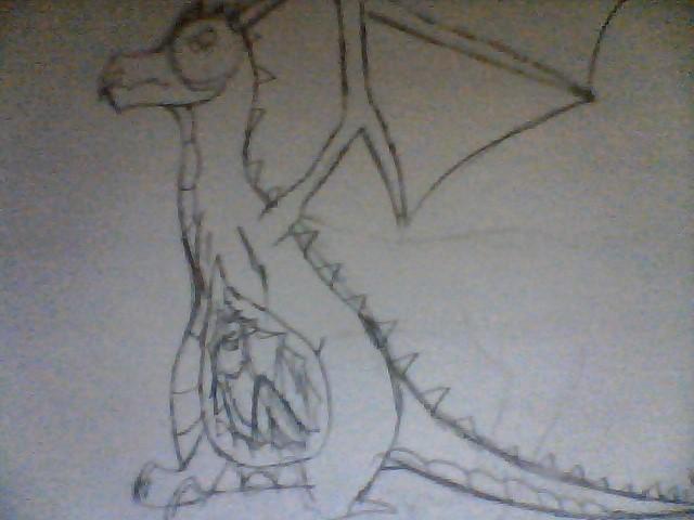 Dragon Nom Sketch by ilbv