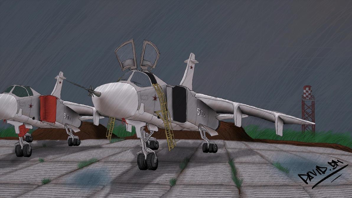 Su 24 Russia Airforce on Syria by DavidbZuter