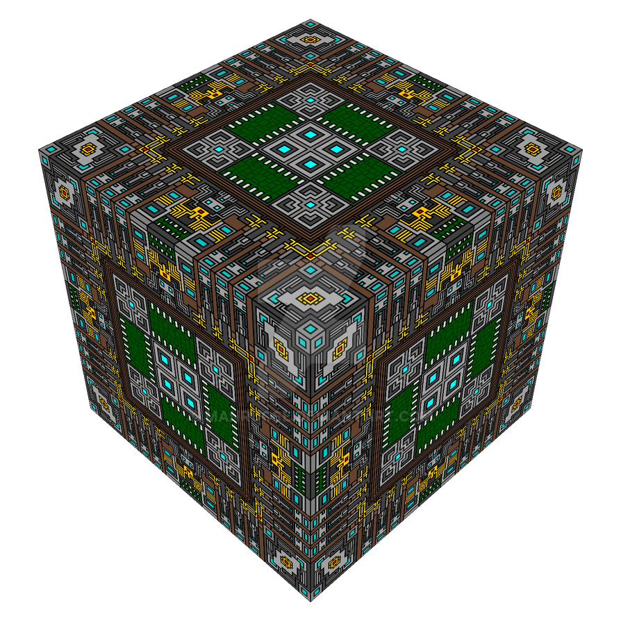 The Court of Edges in cube form by Manroose