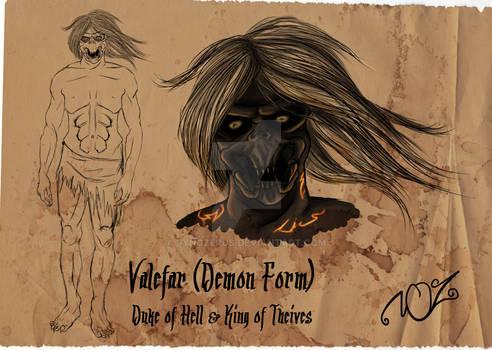 Valefar (Demon Form) Character sheet WIP