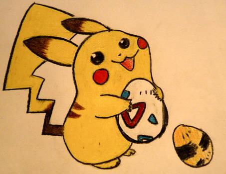 Pikachu and the Togepi Egg