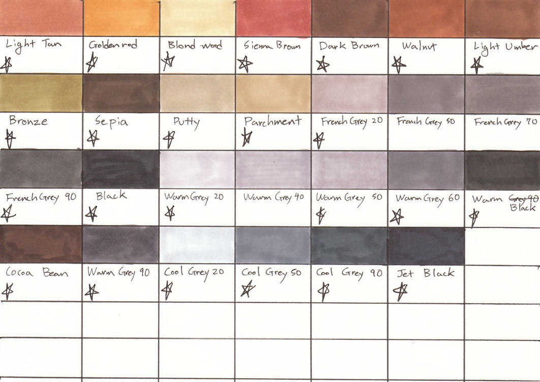 Copic sketch colour chart by kaoru tian on deviantart prismacolor color chart ii by saintarsenic nvjuhfo Choice Image