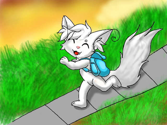Me Chris Kitty - Cute and walking home from school by ChrisTheKitty