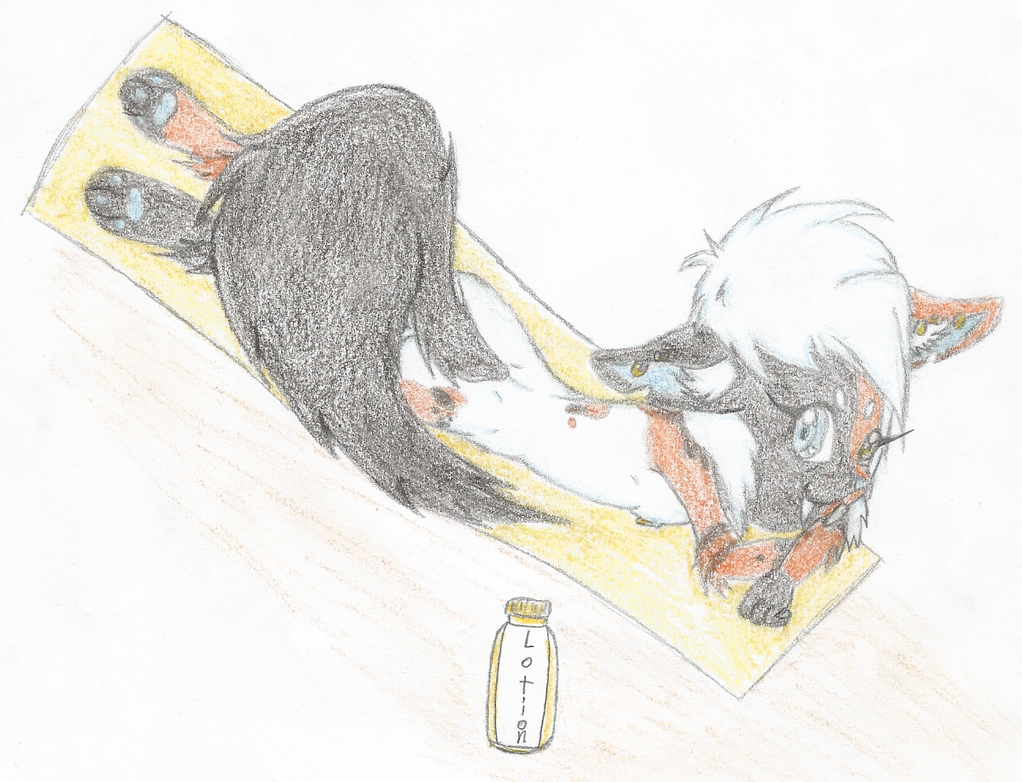 NikiNazu art-trade - Koi Sabretooth Cat sunbathing by ChrisTheKitty