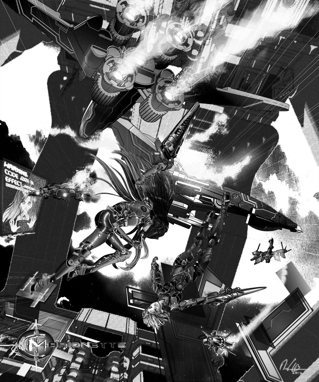 Space-bay Confrontation by Evo-8E3