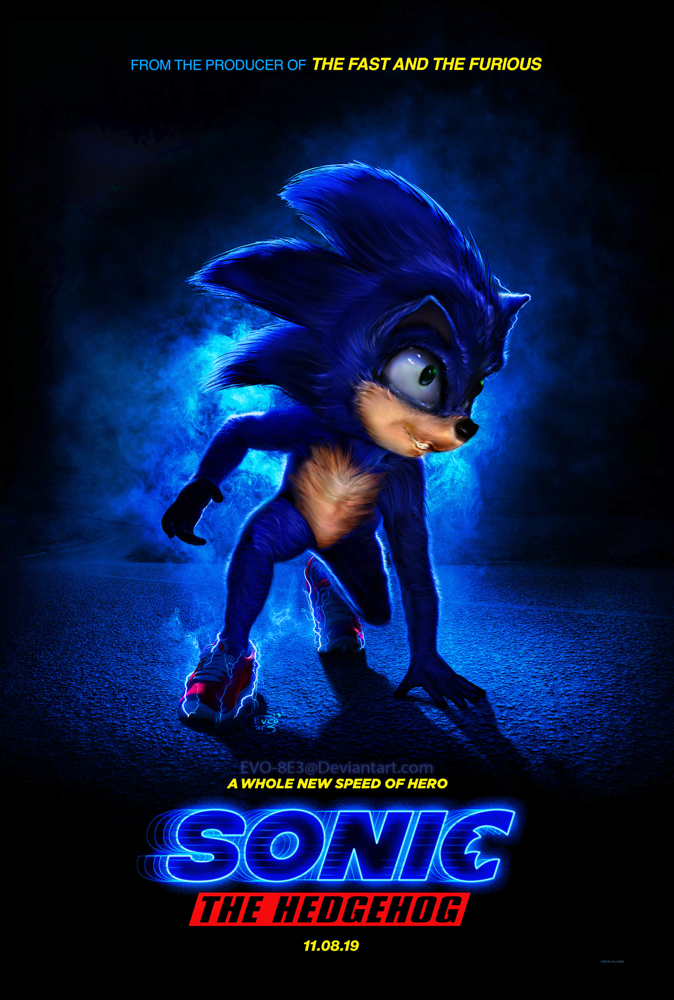 sonic the hedghog movie poster reveal