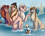 Frozen meets The lion King.