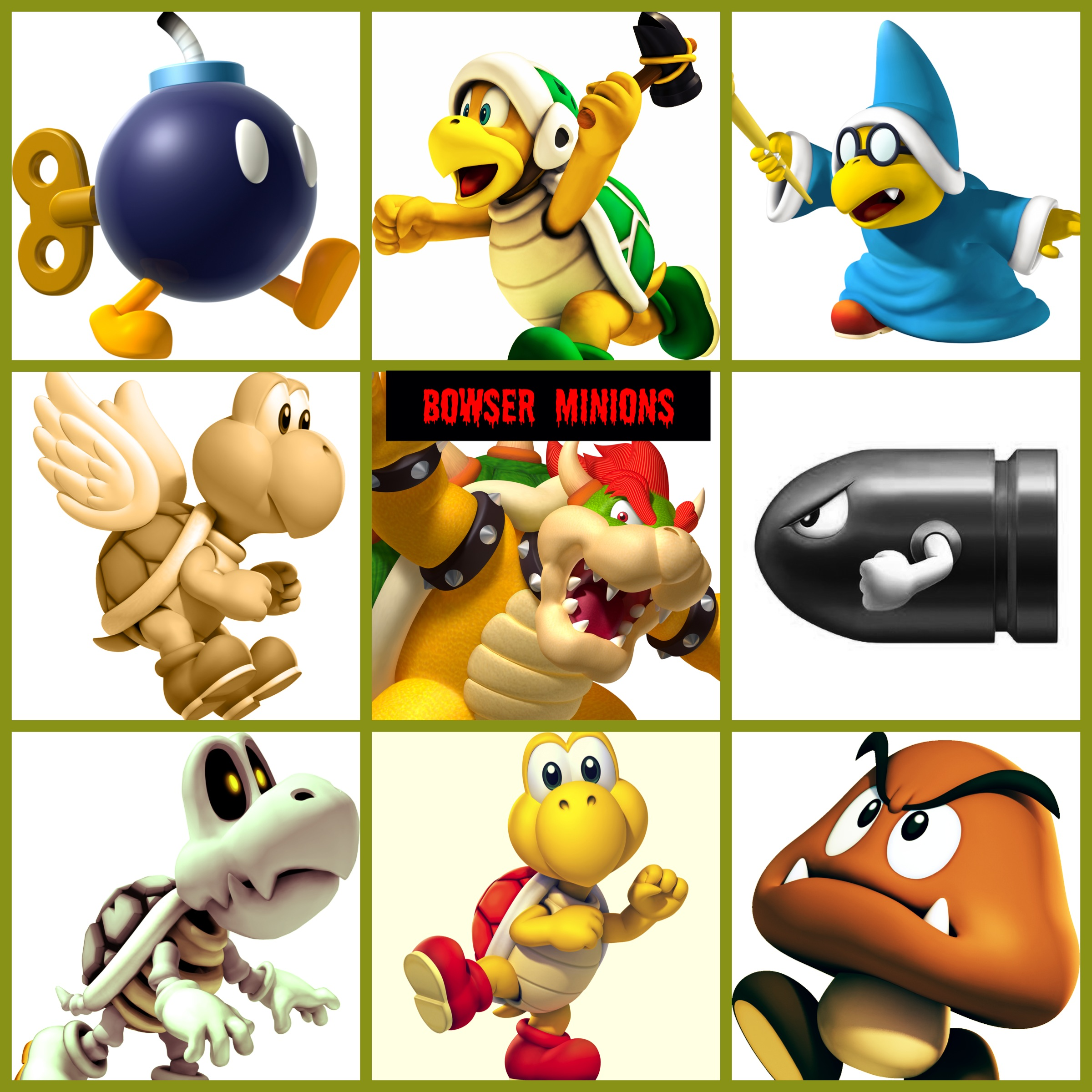 All Super Mario Bros Characters