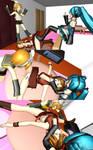 Meiko vs Miku and Rin