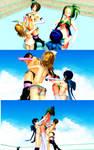 big breasts attack in Meiko and Mio