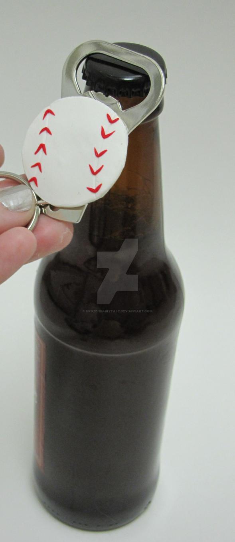 baseball bottle opener keychain by frozenfairytale on deviantart. Black Bedroom Furniture Sets. Home Design Ideas
