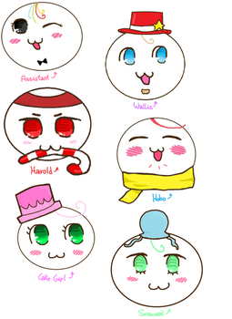 Gloomverse Characters Mochi Style