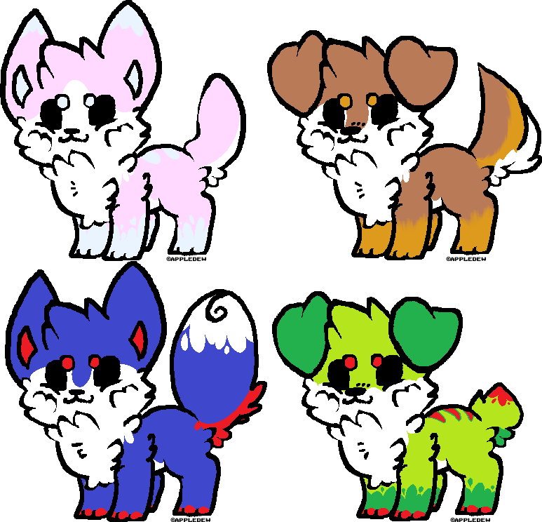 Fursona Adoptable Pups by tul3