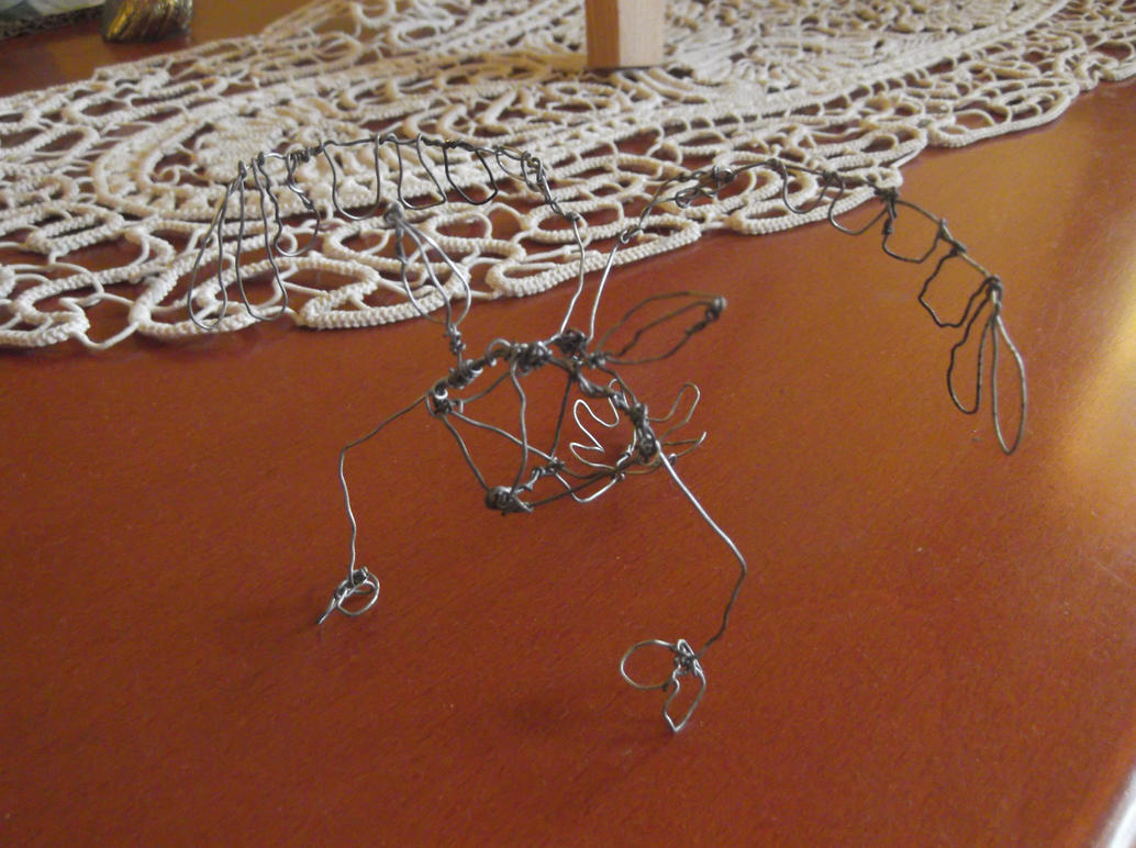 Flying creature wire skeleton by Copanel-CP