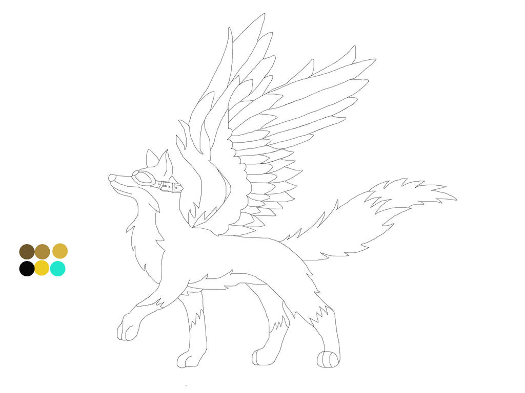 Line Drawing Fox : Skyfox wings line art logo wip by the atomic fox on deviantart