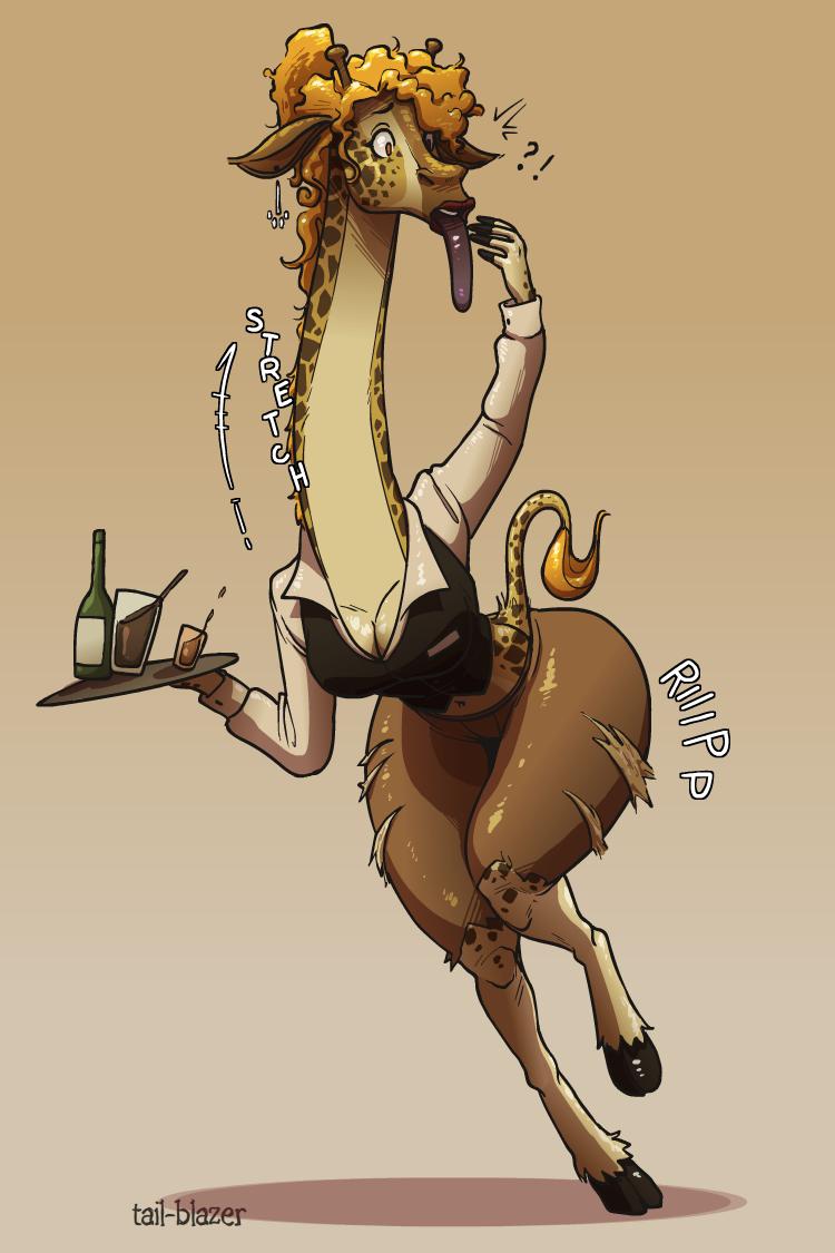 Giraffe Waitress TF