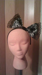 Black Lacey Bow-Ver1 by DramaKana26