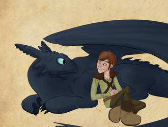 Toothless and Hiccup by Aftershocker
