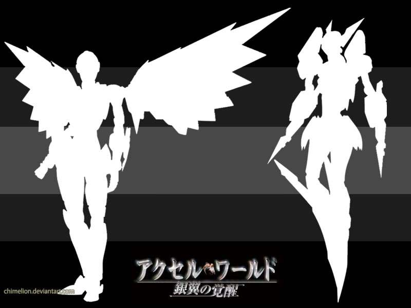 Wallpaper Accel World Black Lotus Silver Crow By Chimelion On Deviantart